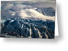 Glacier In The Clouds Greeting Card