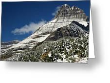 Glacier Mountains Greeting Card