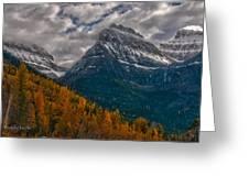 Glacier National Park Big Bend Greeting Card