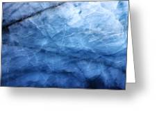 Glacier Of Glass Greeting Card
