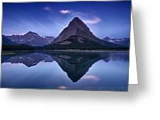 Glacier Park Reflection Greeting Card by Andrew Soundarajan