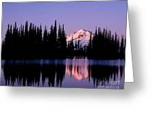 Glacier Peak Sunrise On Image Lake Greeting Card