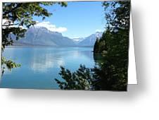 Glacier Reflections Greeting Card