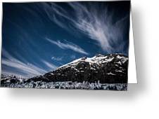 Glacier Sky Greeting Card