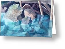 Glacier Stream Rocks Greeting Card