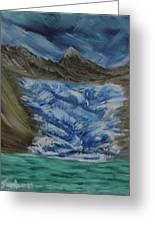 Glacier To Ocean Greeting Card