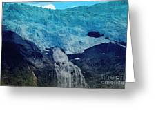 Glacier Waterfall Greeting Card