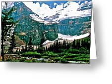 Glaciers Along Plain Of Six Glaciers Trail In Banff Np-alberta Greeting Card