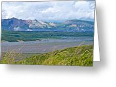 Glaciers And Mountains From Eielson Visitor's Center In Denali Np-ak  Greeting Card