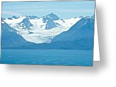 Glaciers In Kenai Range Over Kachemak Bay In Homer-ak- Greeting Card