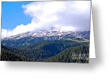 Glaciers In The Clouds. Mt. Rainier National Park Greeting Card