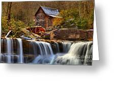 Glade Creek Cascades Greeting Card