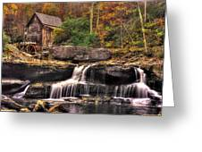 Glade Creek Grist Mill 1a - Autumn Late Afternoon Babcock State Park Wv Greeting Card