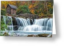 Glade Creek Grist Mill And Waterfalls Greeting Card