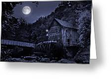 Glade Creek Grist Mill At Night Greeting Card