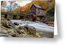 Glade Creek Grist Mill-babcock State Park West Virginia Greeting Card by Dick Wood