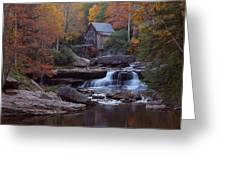 Glade Creek Grist Mill In Autumn Greeting Card by Jetson Nguyen