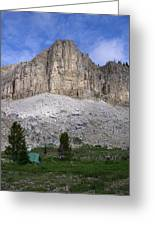 Gladiator Mountain Campsite Greeting Card