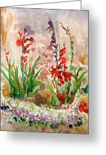 Gladioli Greeting Card by Vladimir Kezerashvili