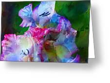 Gladiolus Floral Art Greeting Card