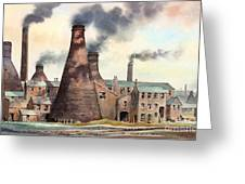 Gladstone Pottery Works Greeting Card