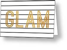 Glam Pinstripe Gold Greeting Card