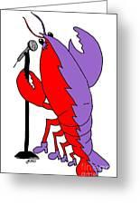 Glam Rock Lobster Or Harleguin Lobster Greeting Card