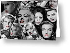 Glamour Girls 1 Greeting Card