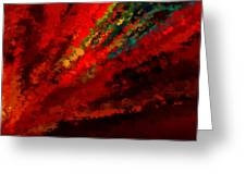 Glance Of Colors Greeting Card