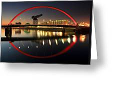 Glasgow Clyde Arc Bridge Greeting Card