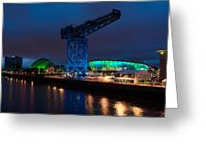 Glasgow - River Clyde At Night Greeting Card