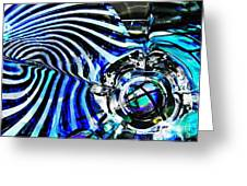 Glass Abstract 132 Greeting Card by Sarah Loft