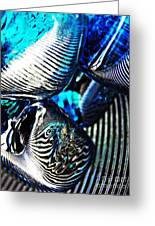 Glass Abstract 157 Greeting Card