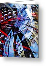Glass Abstract 220 Greeting Card