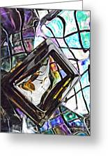 Glass Abstract 309 Greeting Card