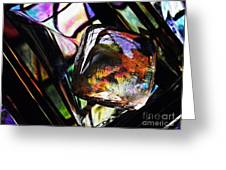 Glass Abstract 314 Greeting Card