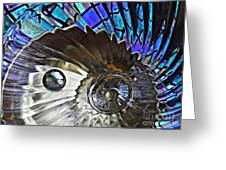 Glass Abstract 372 Greeting Card by Sarah Loft