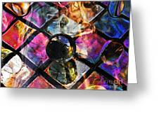Glass Abstract 393 Greeting Card