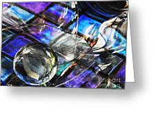 Glass Abstract 396 Greeting Card