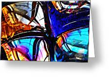Glass Abstract 4 Greeting Card