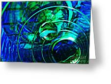Glass Abstract 477 Greeting Card
