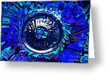 Glass Abstract 481 Greeting Card