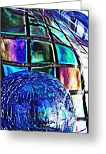 Glass Abstract 490 Greeting Card
