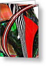 Glass Abstract 493 Greeting Card