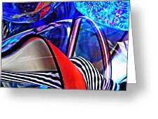 Glass Abstract 503 Greeting Card