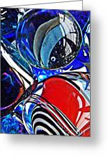 Glass Abstract 507 Greeting Card