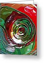 Glass Abstract 573 Greeting Card
