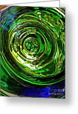 Glass Abstract 575 Greeting Card