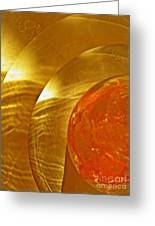 Glass Abstract 582 Greeting Card