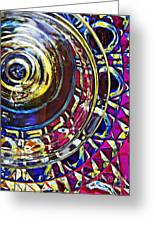 Glass Abstract 588 Greeting Card